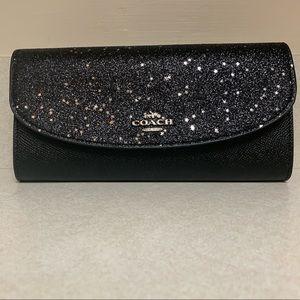 Black Coach Star Glitter Wallet